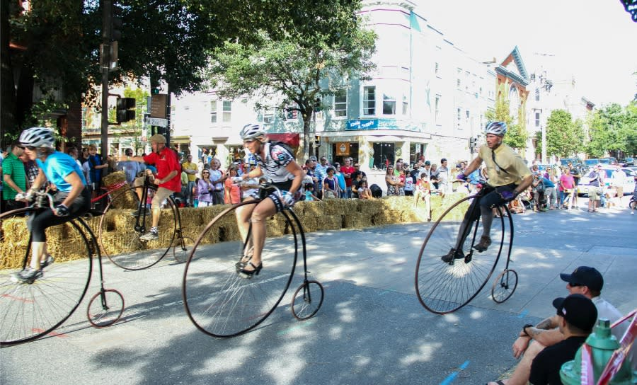 Competitors and Spectators at the Frederick High Wheel Race
