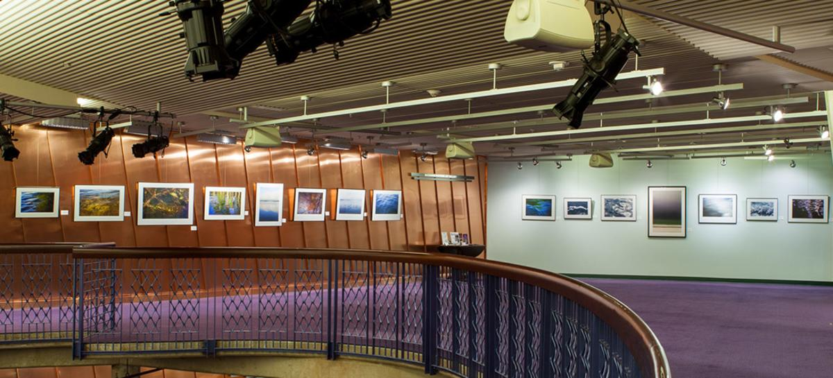 landscape photograph artwork hanging on the walls of Buchanan Partners Art Gallery in Hylton Performing Arts Center