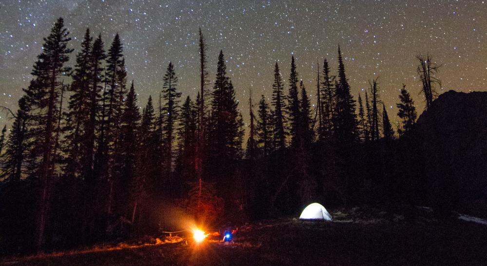 Camping under the starts in Routt County