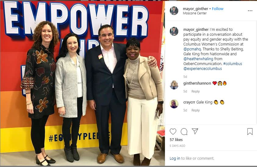 Mayor Ginther PCMA Equality Instagram