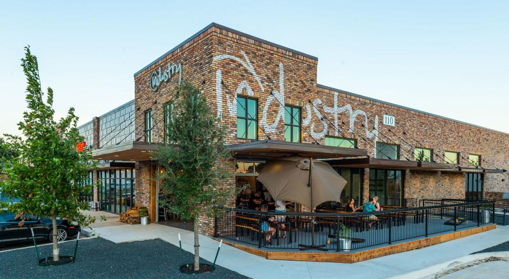 exterior of Industry restaurant in san marcos texas
