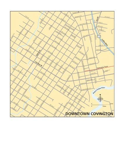 Covington Downtown Map