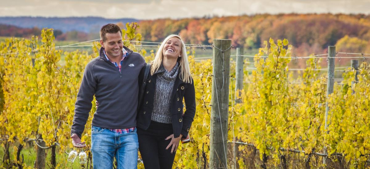 Wine Tasting in the Fall
