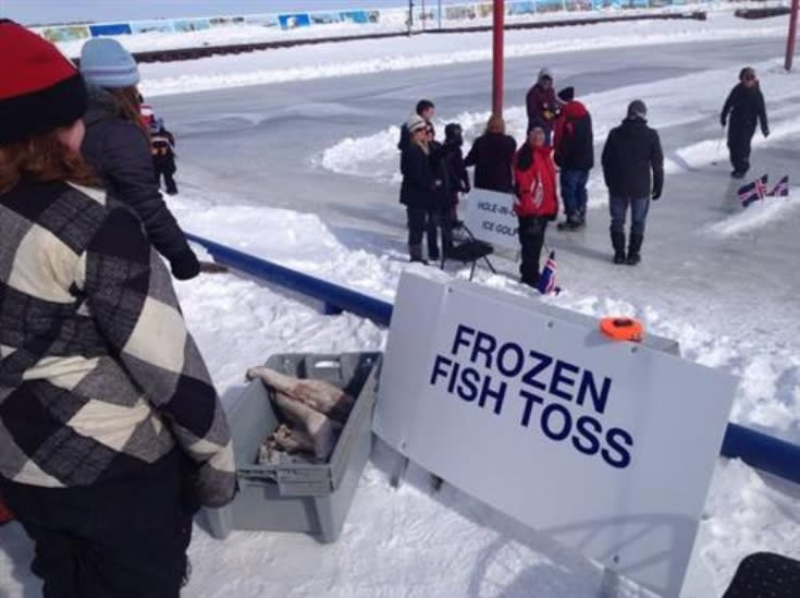 Toss a frozen fish at Gimli Ice Festival