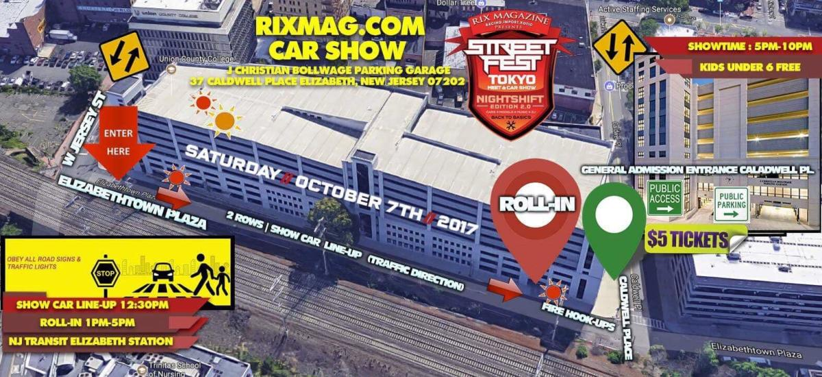 Rix Mag car show flyer