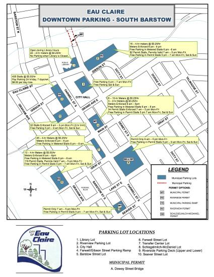 Parking Lots Map South Barstow