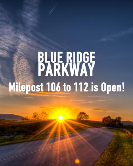 Blue Ridge Parkway Open