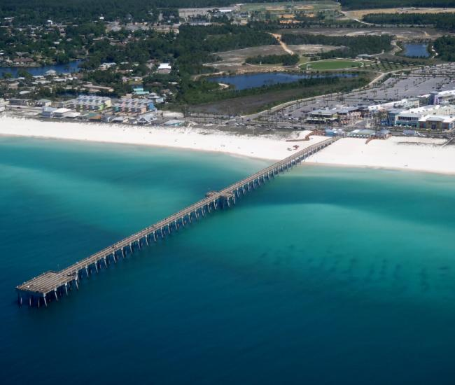Located On The Beautiful Gulf Of Mexico In Panama City Beach M B Miller County Pier Sits 1500 Feet Out Into