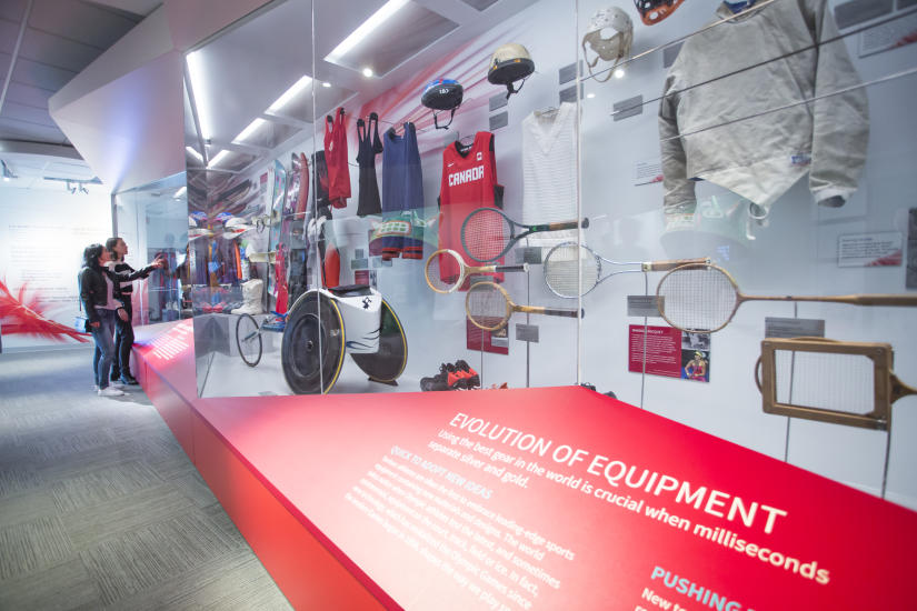 An equipment exhibit at the Olympic Experience