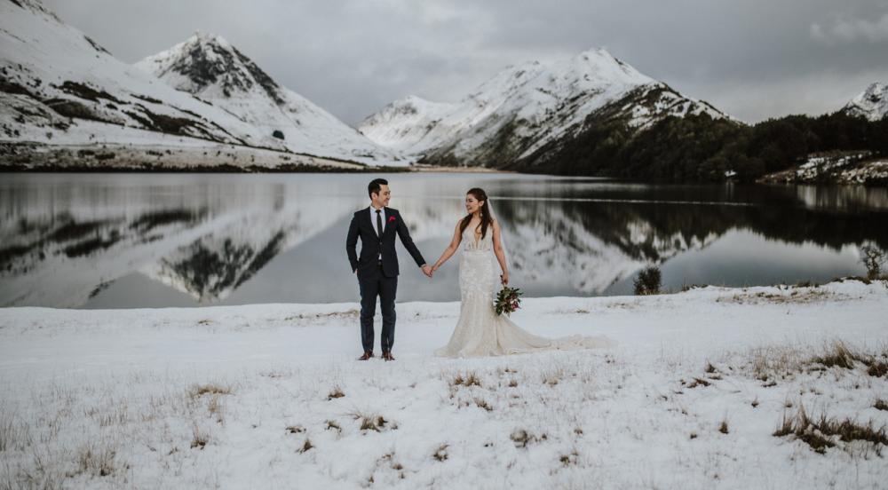 Moke Lake Winter Wedding