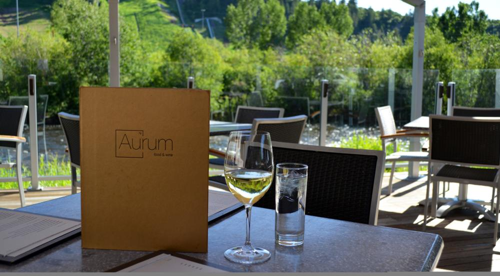 enjoy views of the river over fine dining at Aurum