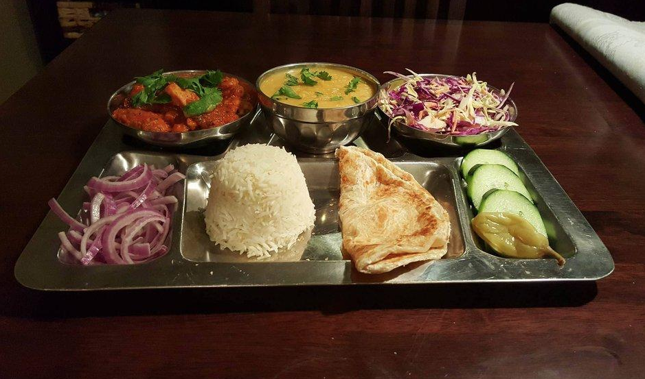Chicken Thali at Wildberry Restaurant