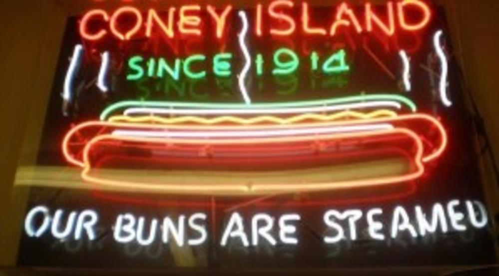 Coney Island's famous Coney Dogs are always served on steamed buns.