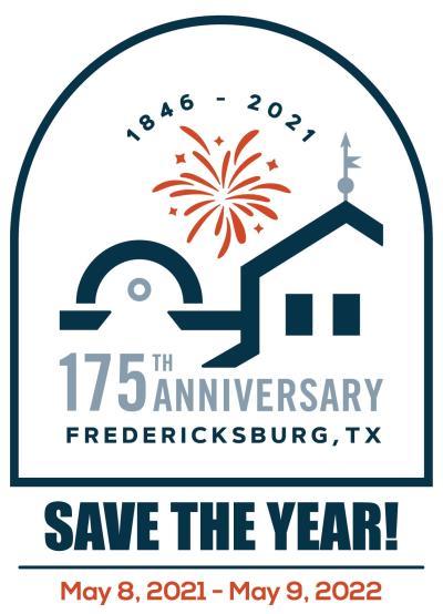 175th Anniversary Fredericksburg, Texas Logo