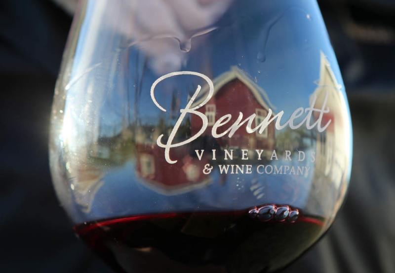 Bennett Vineyards & Wine Company Wine Glass Reflection