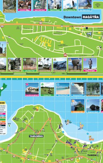 Guam Drive Map (Hagåtña, Tumon)