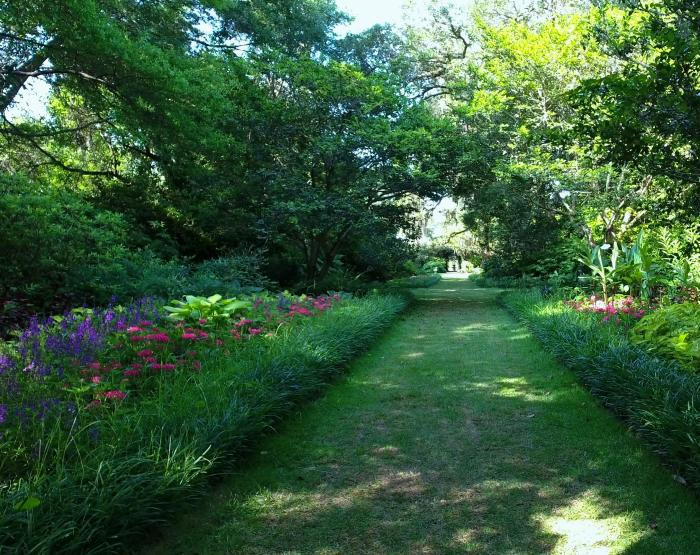 Garden path in Airlie Gardens