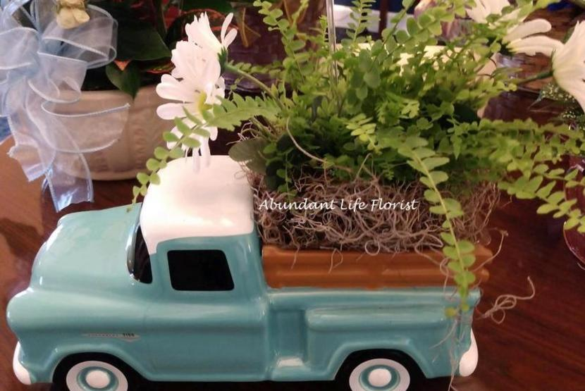 Flowers in Truck Planter