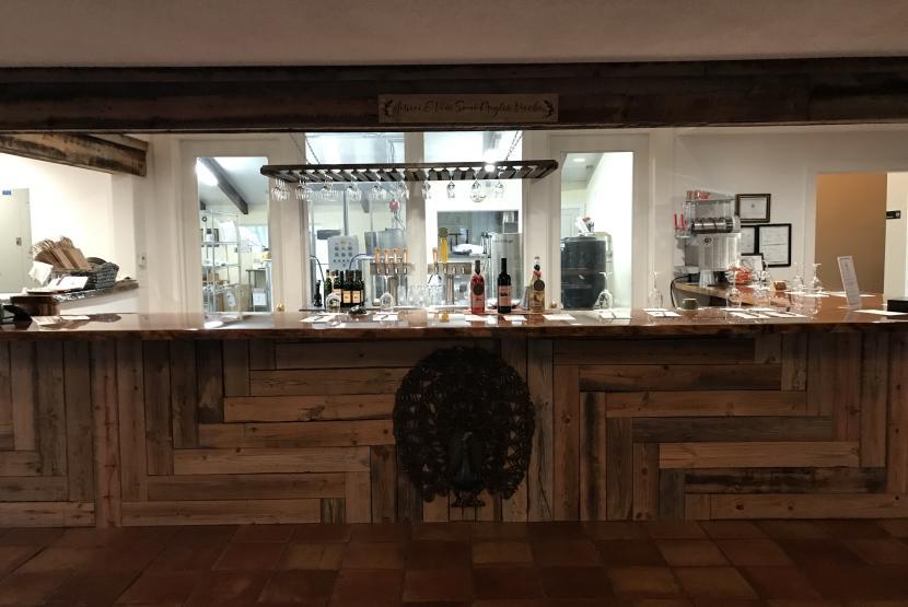 Bar in Tasting Room
