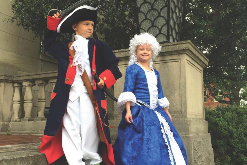 Children Dressed in Old Attire