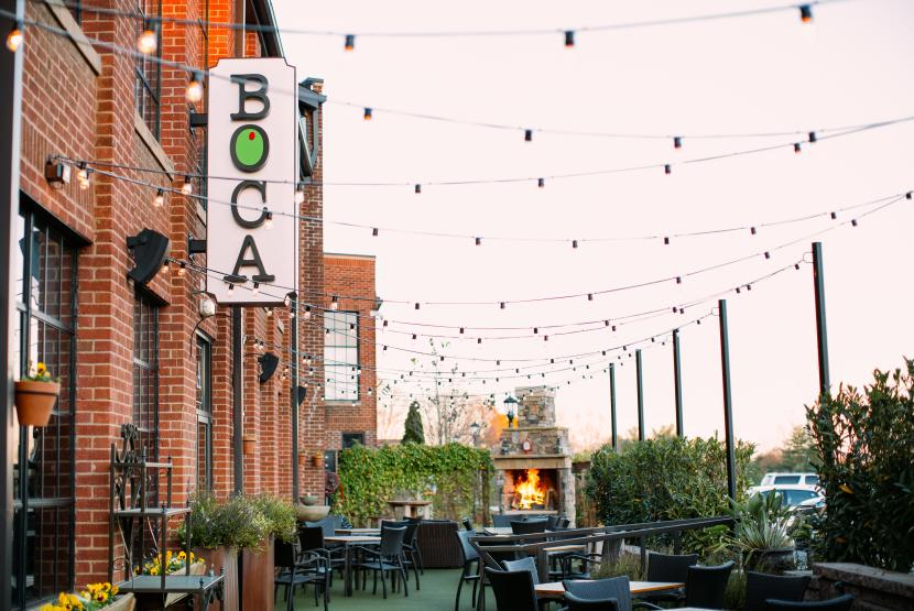 Boca outdoor patio