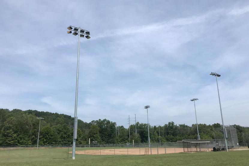 Lights on Baseball Field