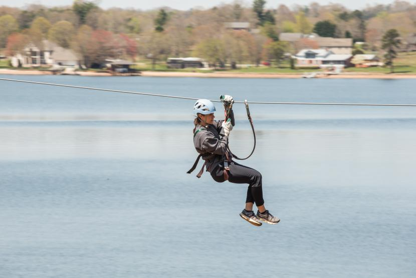 Zipline Over Lake Hickory