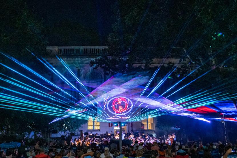 Concert with Laser Show