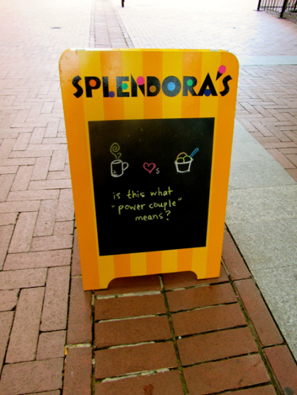 Splendora's Sign on the Downtown Mall