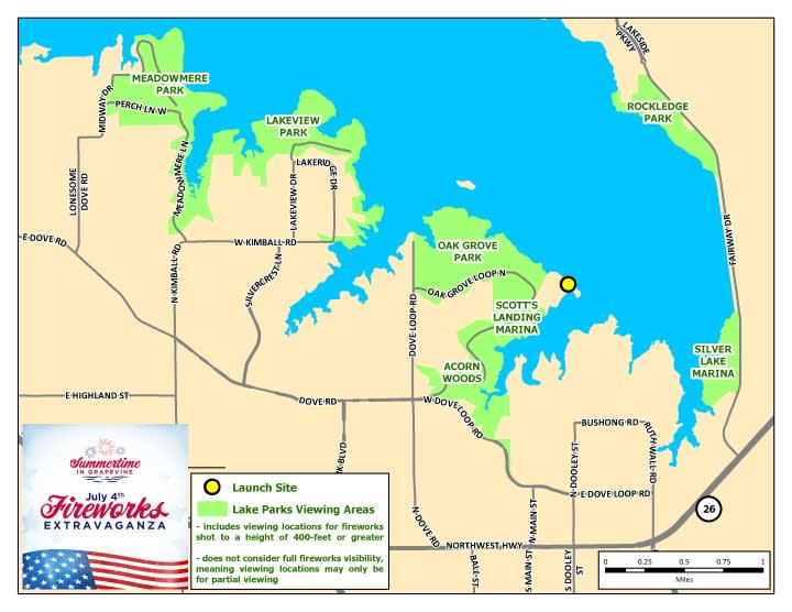 Lake Parks Map For Fireworks 2020