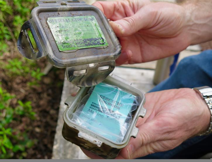 Geocaching in the Richmond Nature Park