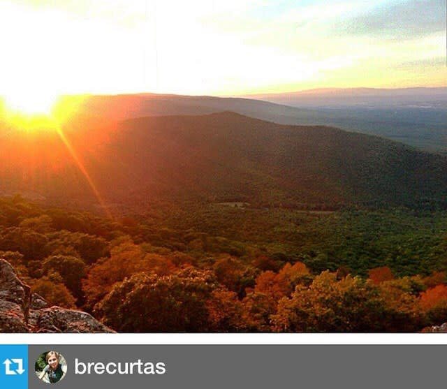 Mountains Overlook Sun - Fall Photo