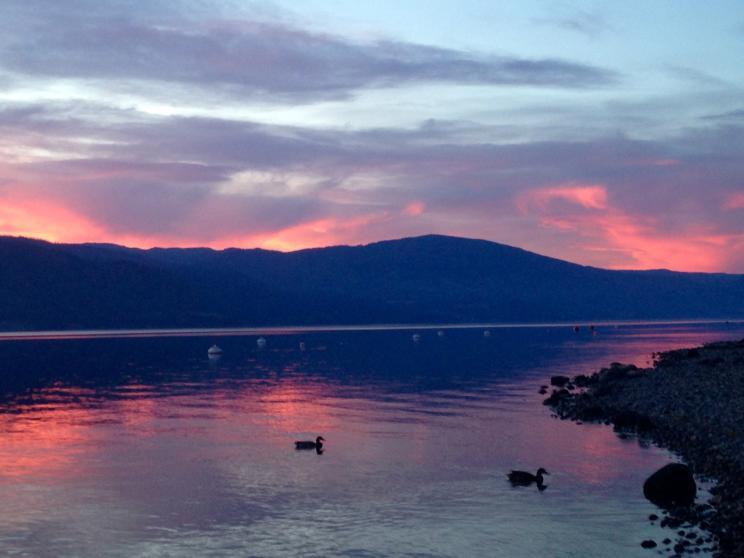 Lakeside Sunet