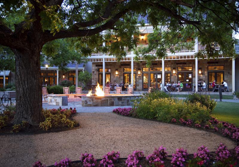 Firepit at the Hyatt Regency Lost Pines Resort and Spa near austin texas