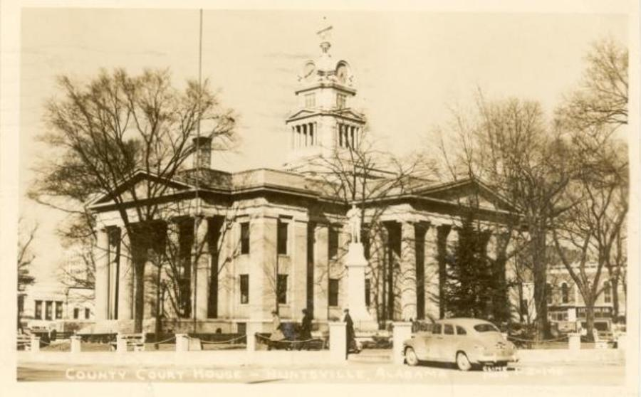 A photograph of the Old Huntsville Madison County Courthouse, built in 1914.