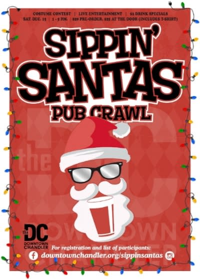 Sippin' Santas Pub Crawl in Downtown Chandler