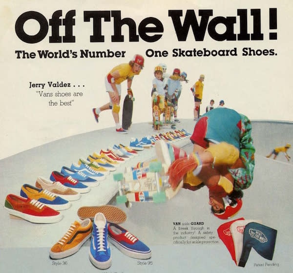 Original Vans Off the Wall Advertisement