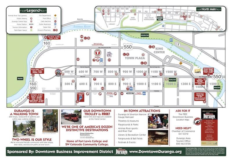 Durango Downtown Locator Map