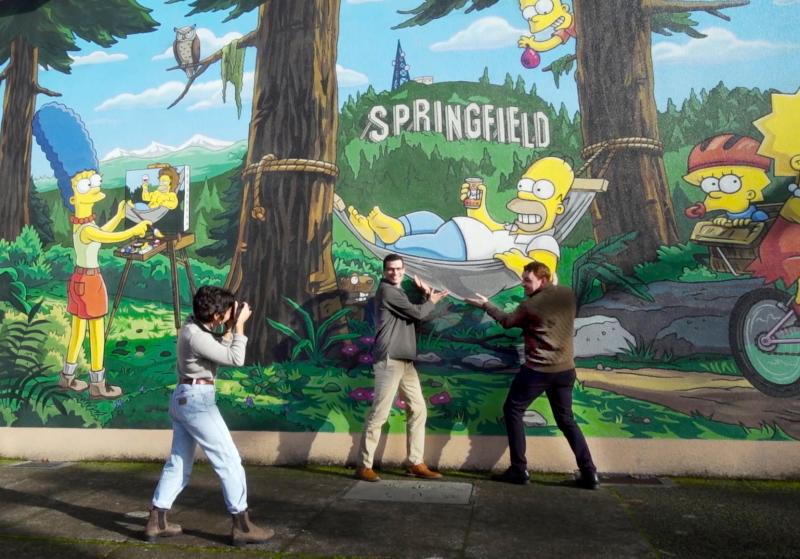 The Simpsons Mural in Springfield by Colin Morton