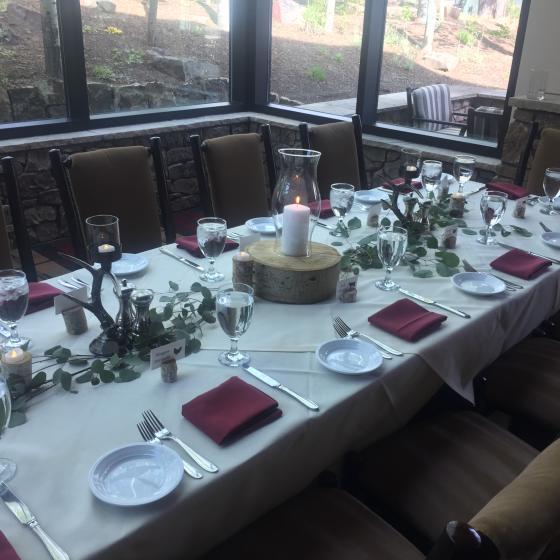 Mountain Clubhouse Wedding Reception