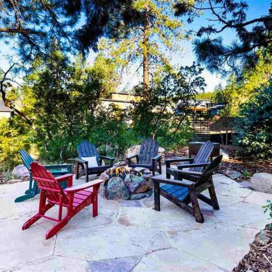 Durango Vacation Rental.- Outdoor Patio and Fire Pit