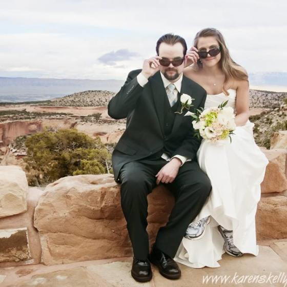 Bride_and_Groom_looking_cool_by_Durango_Photographers