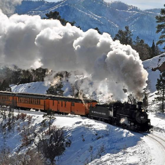 Durango's Cascade Canyon Winter Train