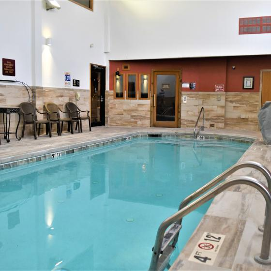 Indoor Heated Saltwater Pool & Sauna