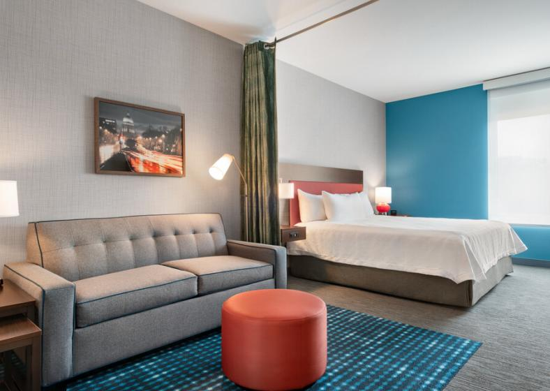 An interior view of a room at Home2Suites