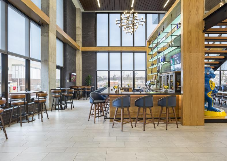 The bar at Springhill Suites in Madison
