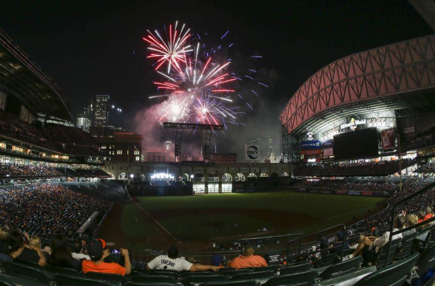 Fireworks at Astros
