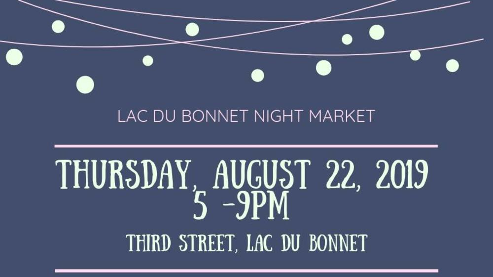 Lac du Bonnet annual night market