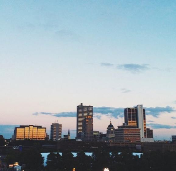 Fort Wayne Skyline - South Facing - Ashley Martin Instagram