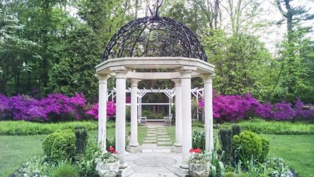 Sayen Gardens gazebo